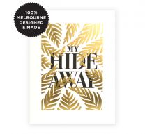 HIDE AWAY LETTERPRESS PRINT