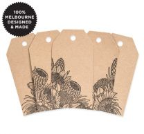5 FLOWER TRIBE KRAFT TAGS