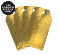 10 METALLIC GOLD TAGS